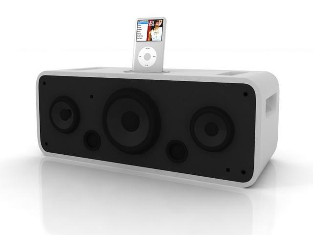 iPod stereo speaker system 3d rendering