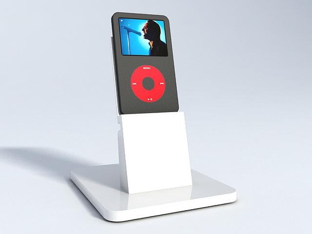 iPod holder 3d rendering
