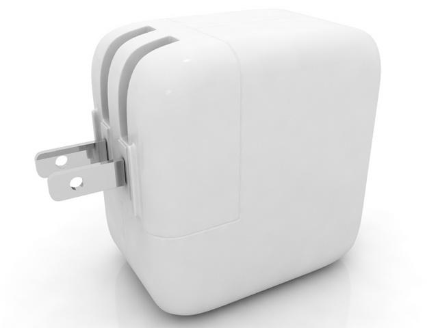 USB power adapter 3d rendering