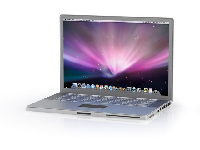 Apple MacBook Pro 3d model 3ds max files free download ...