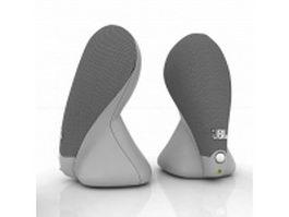 JBL Duet 2.0 speakers 3d model preview