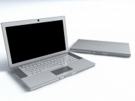 Apple Macbook silver 3d preview