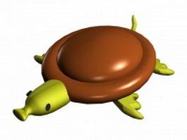 Cartoon tortoise walking 3d model preview