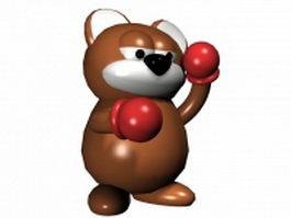 Boxing bear 3d model preview