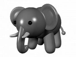 Cartoon baby elephant 3d model preview