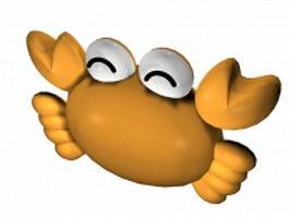 Cartoon crab 3d model preview