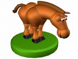 Cartoon horse 3d model preview