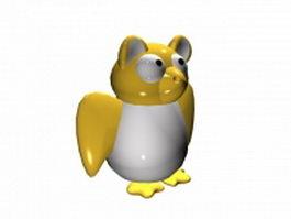 Cartoon platypus 3d model preview