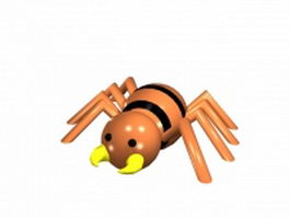 Cartoon spider 3d model preview