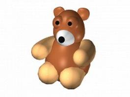 Cute cartoon bear 3d model preview