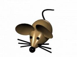 Cute cartoon mouse 3d model preview