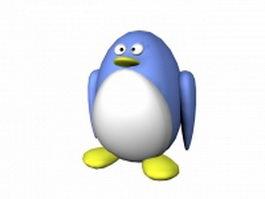 Cartoon penguin 3d model preview