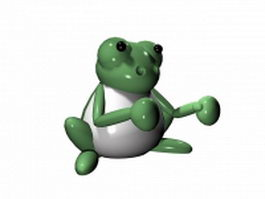 Cartoon frog 3d model preview