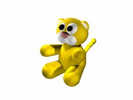 Cute baby tiger 3d model preview