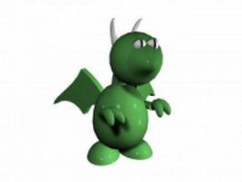 European dragon cartoon 3d model preview