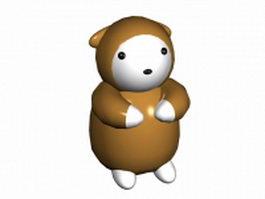 Cartoon sloth 3d model preview