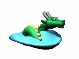 Cartoon Chinese dragon 3d model preview