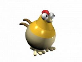Cartoon chicken 3d model preview