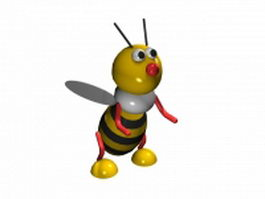Cartoon bee 3d model preview