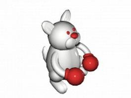 Rabbit boxer 3d model preview