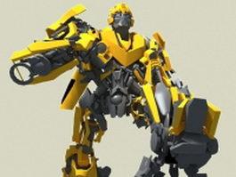 Bumblebee Transformer 3d model preview