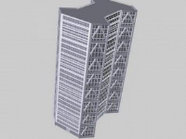 High-Rise office building 3d model preview