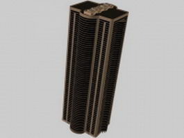 Tall building for office 3d model preview