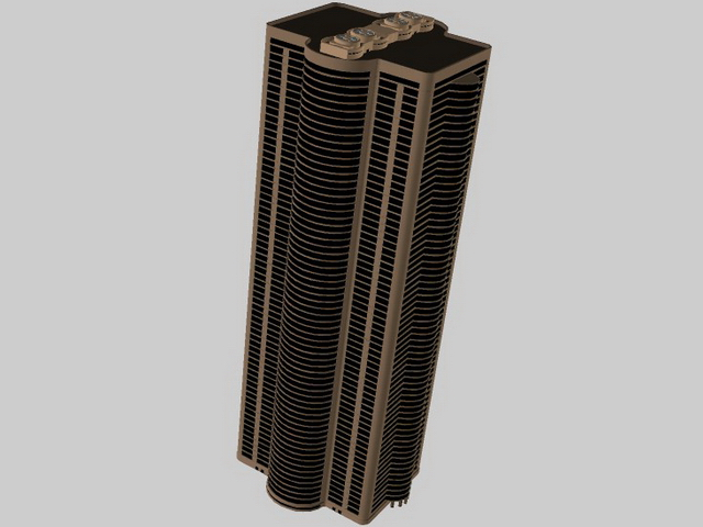 Tall building for office 3d rendering