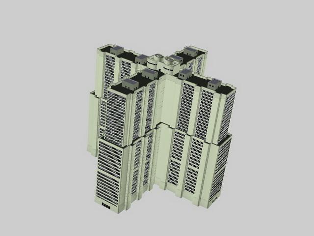 Modern residential buildings 3d rendering