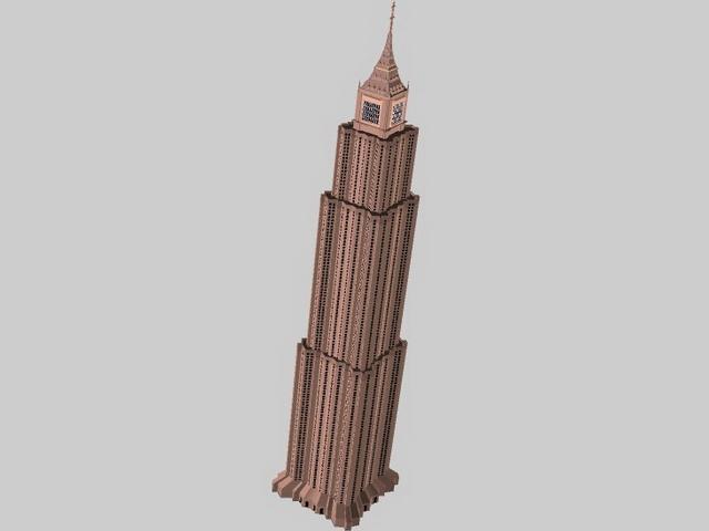Skyscraper building 3d rendering