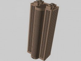 High-rise building 3d model preview