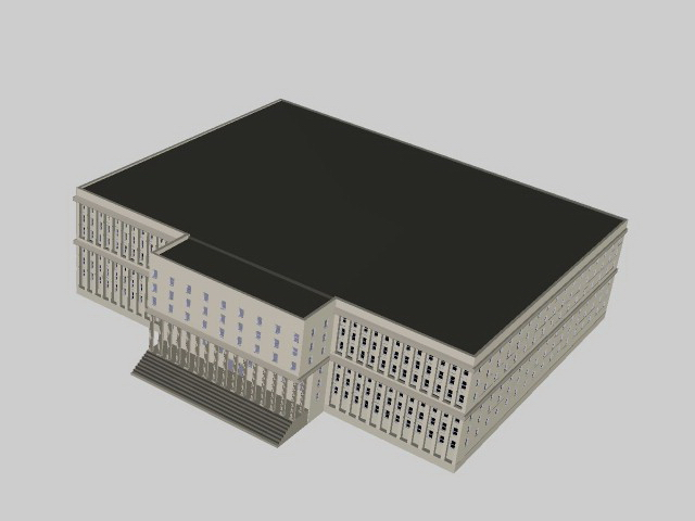 Provincial government building 3d rendering