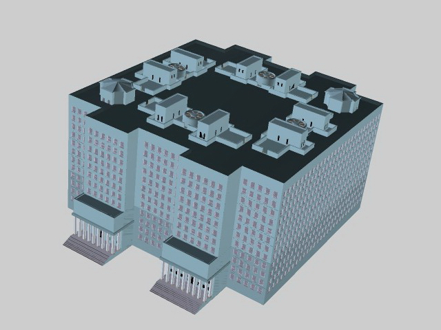 High-rise residential building 3d rendering