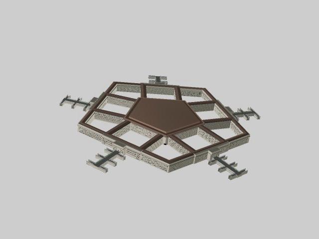 Pentagon building 3d rendering