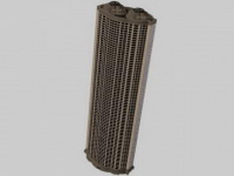 Hotel tall building 3d preview