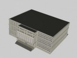 Assembly hall exterior 3d model preview