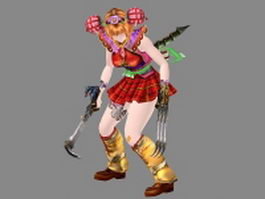 Battle Raper character 3d preview