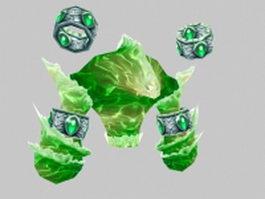 Lesser water elemental 3d model preview