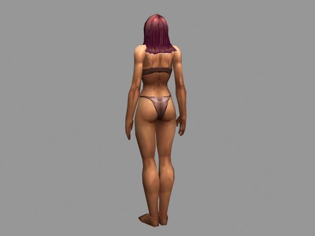 Human woman character 3d rendering
