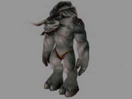 Tauren male WoW 3d model preview