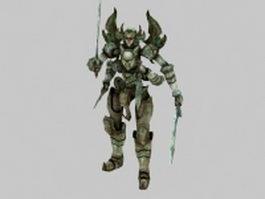 Manlike monster 3d model preview