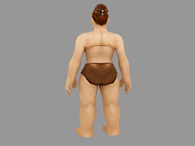 Dwarf female character 3d rendering