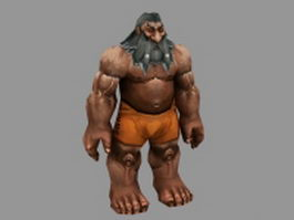 Dwarf male character 3d model preview