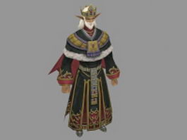 Old Mongolian warrior 3d model preview