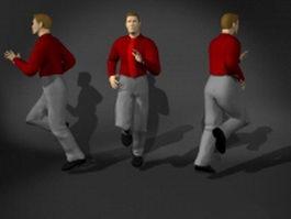 3d Running man 3d preview