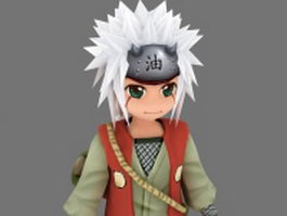 Naruto character 3d model preview