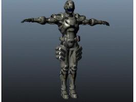 Mechanical warrior 3d model preview