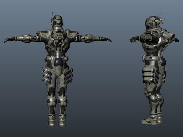 Mechanical warrior 3d rendering
