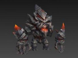 Stone monster 3d model preview