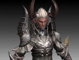 Asmodian warrior male 3d preview